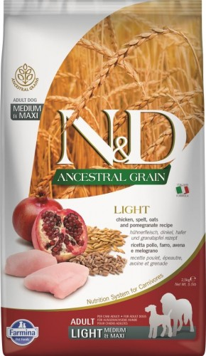 N&D Ancestral Dog Chicken & Pomegranate Light Medium & Maxi